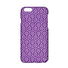 Hexagon1 White Marble & Purple Denim Apple Iphone 6/6s Hardshell Case
