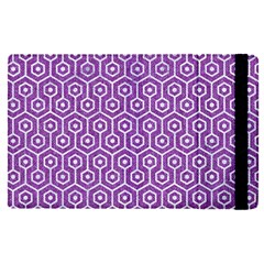Hexagon1 White Marble & Purple Denim Apple Ipad Pro 12 9   Flip Case