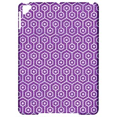 Hexagon1 White Marble & Purple Denim Apple Ipad Pro 9 7   Hardshell Case
