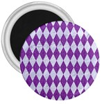 DIAMOND1 WHITE MARBLE & PURPLE DENIM 3  Magnets