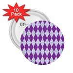 DIAMOND1 WHITE MARBLE & PURPLE DENIM 2.25  Buttons (10 pack)