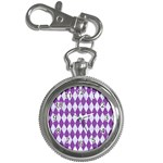 DIAMOND1 WHITE MARBLE & PURPLE DENIM Key Chain Watches
