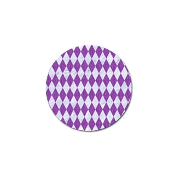 DIAMOND1 WHITE MARBLE & PURPLE DENIM Golf Ball Marker (10 pack)