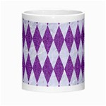 DIAMOND1 WHITE MARBLE & PURPLE DENIM Morph Mugs Center