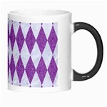 DIAMOND1 WHITE MARBLE & PURPLE DENIM Morph Mugs Right
