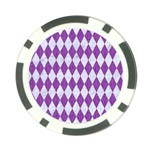 DIAMOND1 WHITE MARBLE & PURPLE DENIM Poker Chip Card Guard (10 pack) Front