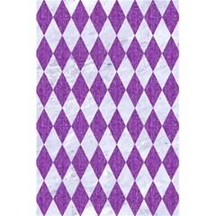 Diamond1 White Marble & Purple Denim 5 5  X 8 5  Notebooks