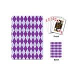 DIAMOND1 WHITE MARBLE & PURPLE DENIM Playing Cards (Mini)  Back