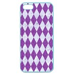 DIAMOND1 WHITE MARBLE & PURPLE DENIM Apple Seamless iPhone 5 Case (Color) Front