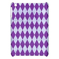 Diamond1 White Marble & Purple Denim Apple Ipad Mini Hardshell Case