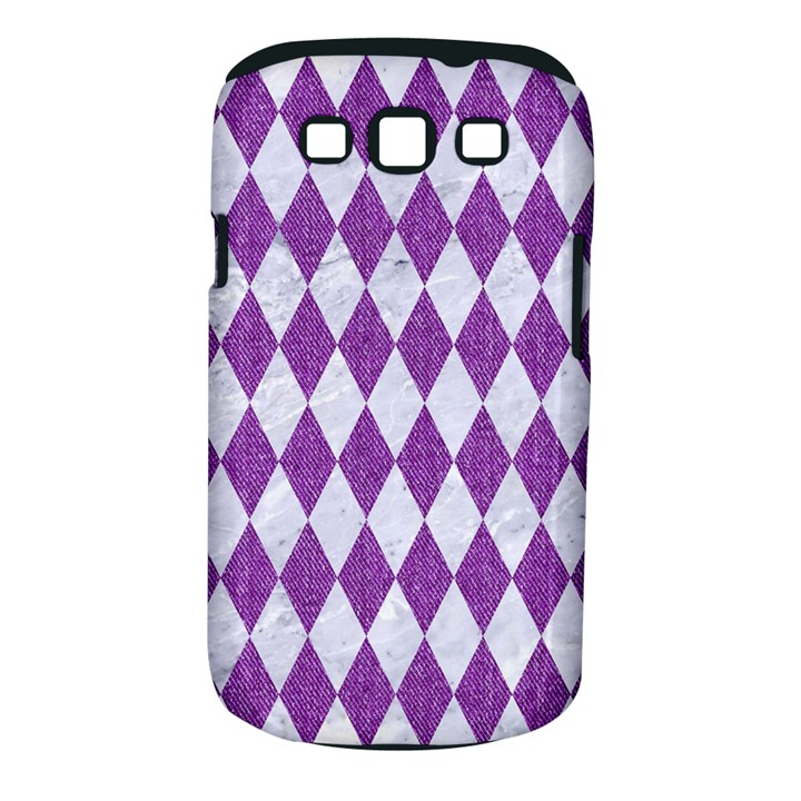 DIAMOND1 WHITE MARBLE & PURPLE DENIM Samsung Galaxy S III Classic Hardshell Case (PC+Silicone)
