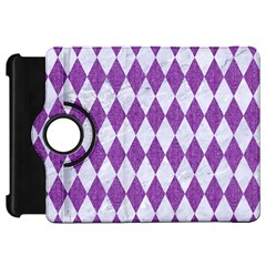 Diamond1 White Marble & Purple Denim Kindle Fire Hd 7