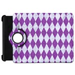DIAMOND1 WHITE MARBLE & PURPLE DENIM Kindle Fire HD 7  Front