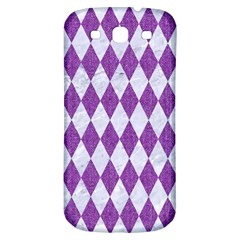 Diamond1 White Marble & Purple Denim Samsung Galaxy S3 S Iii Classic Hardshell Back Case