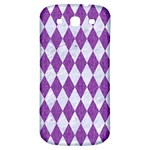 DIAMOND1 WHITE MARBLE & PURPLE DENIM Samsung Galaxy S3 S III Classic Hardshell Back Case Front