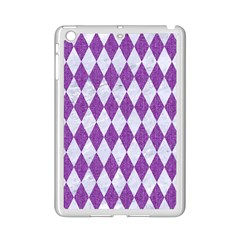 Diamond1 White Marble & Purple Denim Ipad Mini 2 Enamel Coated Cases