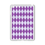 DIAMOND1 WHITE MARBLE & PURPLE DENIM iPad Mini 2 Enamel Coated Cases Front
