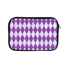 Diamond1 White Marble & Purple Denim Apple Ipad Mini Zipper Cases