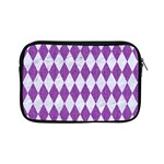 DIAMOND1 WHITE MARBLE & PURPLE DENIM Apple iPad Mini Zipper Cases Front