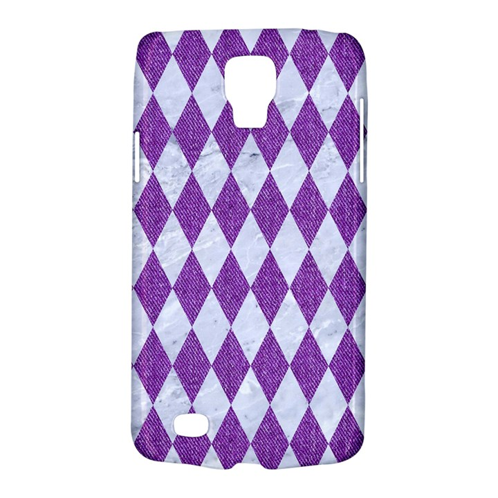 DIAMOND1 WHITE MARBLE & PURPLE DENIM Galaxy S4 Active