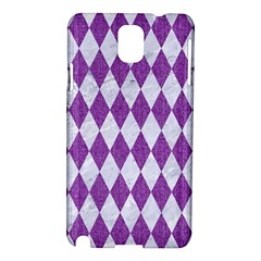 Diamond1 White Marble & Purple Denim Samsung Galaxy Note 3 N9005 Hardshell Case