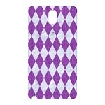 DIAMOND1 WHITE MARBLE & PURPLE DENIM Samsung Galaxy Note 3 N9005 Hardshell Back Case Front