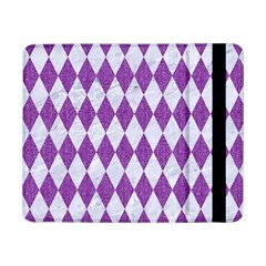 Diamond1 White Marble & Purple Denim Samsung Galaxy Tab Pro 8 4  Flip Case