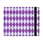DIAMOND1 WHITE MARBLE & PURPLE DENIM Samsung Galaxy Tab Pro 8.4  Flip Case Front