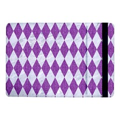 Diamond1 White Marble & Purple Denim Samsung Galaxy Tab Pro 10 1  Flip Case