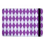DIAMOND1 WHITE MARBLE & PURPLE DENIM Samsung Galaxy Tab Pro 10.1  Flip Case Front