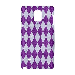 Diamond1 White Marble & Purple Denim Samsung Galaxy Note 4 Hardshell Case