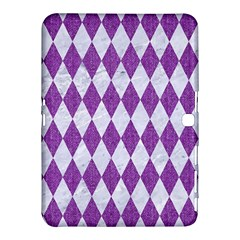 Diamond1 White Marble & Purple Denim Samsung Galaxy Tab 4 (10 1 ) Hardshell Case