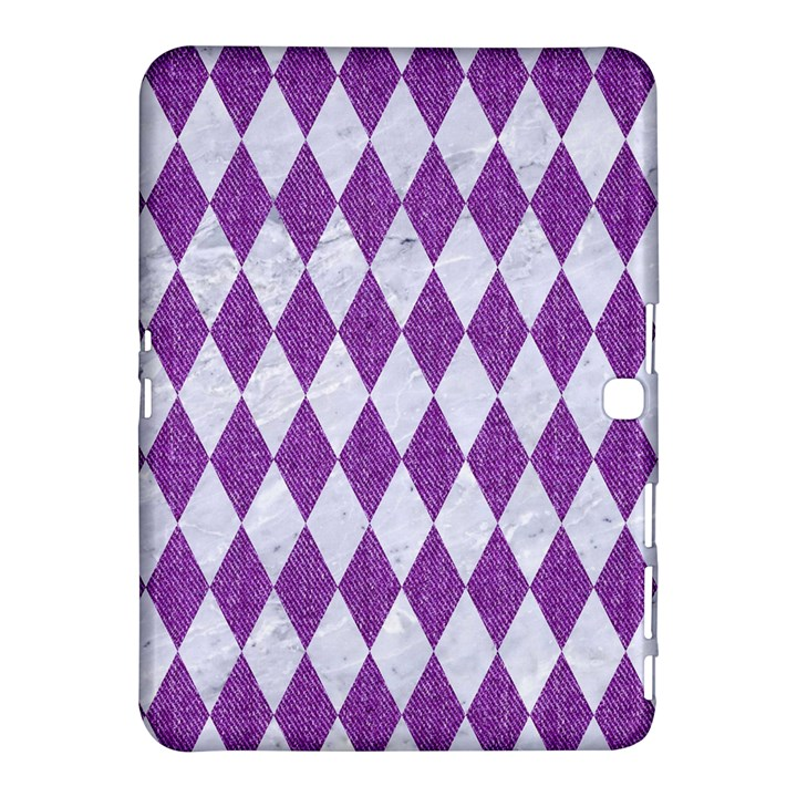 DIAMOND1 WHITE MARBLE & PURPLE DENIM Samsung Galaxy Tab 4 (10.1 ) Hardshell Case