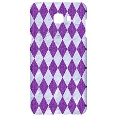 Diamond1 White Marble & Purple Denim Samsung C9 Pro Hardshell Case