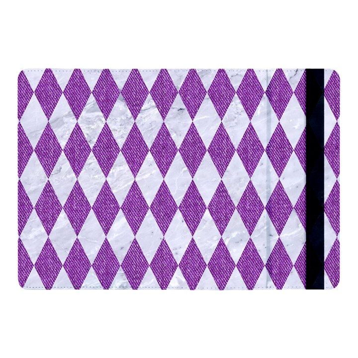 DIAMOND1 WHITE MARBLE & PURPLE DENIM Apple iPad Pro 10.5   Flip Case
