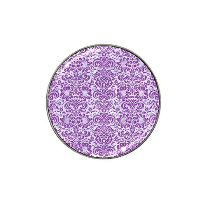 DAMASK2 WHITE MARBLE & PURPLE DENIM (R) Hat Clip Ball Marker