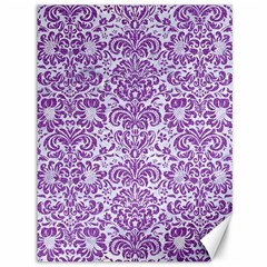 Damask2 White Marble & Purple Denim (r) Canvas 36  X 48