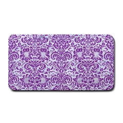 Damask2 White Marble & Purple Denim (r) Medium Bar Mats by trendistuff