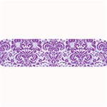DAMASK2 WHITE MARBLE & PURPLE DENIM (R) Large Bar Mats 34 x9.03 Bar Mat - 1