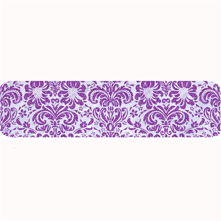 DAMASK2 WHITE MARBLE & PURPLE DENIM (R) Large Bar Mats
