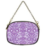 DAMASK2 WHITE MARBLE & PURPLE DENIM (R) Chain Purses (Two Sides)  Back