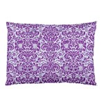 DAMASK2 WHITE MARBLE & PURPLE DENIM (R) Pillow Case 26.62 x18.9 Pillow Case