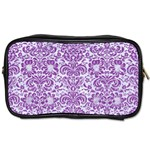 DAMASK2 WHITE MARBLE & PURPLE DENIM (R) Toiletries Bags Front