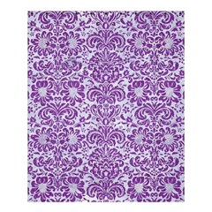 Damask2 White Marble & Purple Denim (r) Shower Curtain 60  X 72  (medium)  by trendistuff