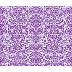 DAMASK2 WHITE MARBLE & PURPLE DENIM (R) Deluxe Canvas 14  x 11  14  x 11  x 1.5  Stretched Canvas