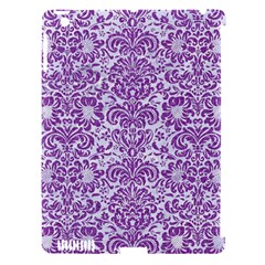 Damask2 White Marble & Purple Denim (r) Apple Ipad 3/4 Hardshell Case (compatible With Smart Cover)