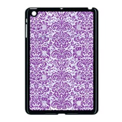 Damask2 White Marble & Purple Denim (r) Apple Ipad Mini Case (black)