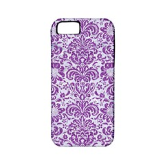 Damask2 White Marble & Purple Denim (r) Apple Iphone 5 Classic Hardshell Case (pc+silicone)