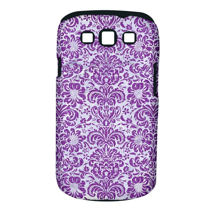 DAMASK2 WHITE MARBLE & PURPLE DENIM (R) Samsung Galaxy S III Classic Hardshell Case (PC+Silicone)