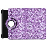 DAMASK2 WHITE MARBLE & PURPLE DENIM (R) Kindle Fire HD 7  Front
